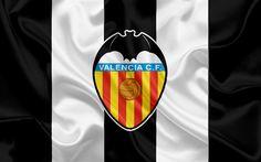 Lataa kuva Valencia FC, professional football club, tunnus, Valencia-logo, La Liga, Valencia, Espanja, LFP, Espanjan Jalkapallon Mm-Kilpailut