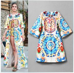 Buy from china:Sale New Casacos Femininos 2014 Winter Cardigans Plus Size Women Clothing Retro Printed Beaded Brand Trench Coat