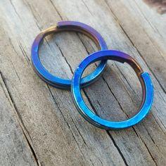 Titanium split rings tisurvival.com/ #tisurvival #titanium #keyring #keychain #splitrings #keys