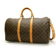 Louis Vuitton Keepall Bandouliere 50 Monogram Luggage Brown Canvas M41416