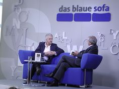 Anthony McCarten auf dem Blauen Sofa | FBM 10.10.12 by Das blaue Sofa, via Flickr Ladies Night, Plymouth, Sofa, Anthony Mccarten, Names Of God, Settee, Girl Night, Couch