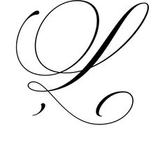 Fancy cursive l tattoo