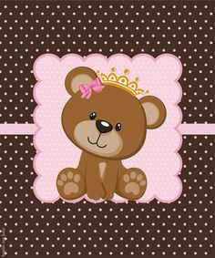 Baby Shower Oso, Baby Shower Clipart, Kids Cards, Baby Cards, Teddy Bear Party, Image 3d, Baby Shawer, Bottle Cap Images, Baby Quilts