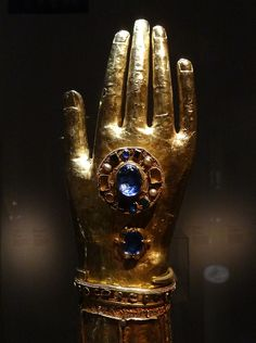 """Reliquaire du bras de Saint Blaise by Ωméga * on Flickr. Reliquary of the arm of St. Blaise. 12th c. """