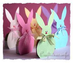 Spring And Easter Paper Craft - Easter Bunny Egg Holders for Easter Bunny Paper CraftsPaper Bunny Hi