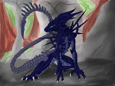Alien-Dragon hybrid by Dotchees.deviantart.com on @DeviantArt