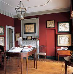 Ruth Burts Interiors: Red Rooms: Darker Reds