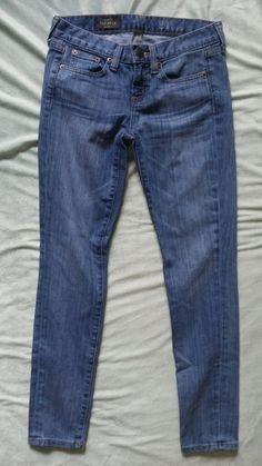 J.Crew Toothpick Denim Jeans Skinny Ankle Sz 24 #JCrew #SlimSkinny