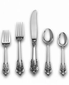 "<3 this Wallace ""Grande Baroque"" Sterling Silver Flatware Collection"