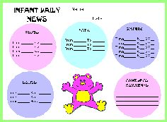 Daily Activity Log For Childcare Provider  Baby Love  All