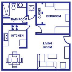 Evidently there's no bed, and there's a fit do you can walk directly into the kitchen counter. Other than that, it isn't a bad layout.  Idk what that is behind  the closet but I'd put a stackable w/d there