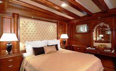 Luxury gulet Mare Nostrum double guestroom | by Durukos Yachting