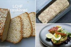 LCHF franskbrød Lchf, Keto, Banana Bread, Low Carb, Pizza, Ethnic Recipes, Desserts, Food, Meal