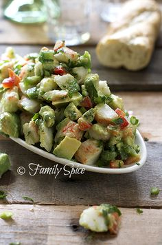 Avocado Crab Salad @Laura Jayson | Family Spice