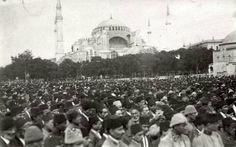 İzmir'in Yunanlılar Tarafından İşgalini Protesto Mitingi,   Sultanahmet  / 1919