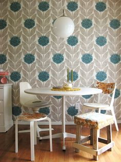 Mix and match chairs / seating using the same fabric to pull it all together.