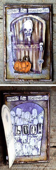 Artwork created by Belinda Spencer using rubber stamps designed by Daniel Torrente for Stampotique Originals
