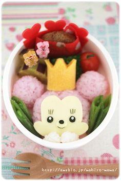 Minnie Mouse bento   #food #bento #disney #lunchbox #minnie #minniemouse