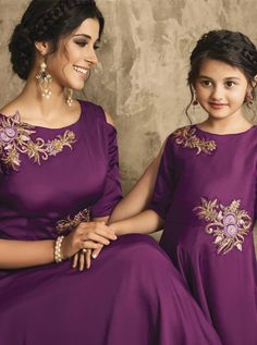 KARMA MOTHER & DAUGHTER DESIGNER GOWN COLLECTION KARMA TC-16002 TO TC-16007 SERIES - DStyle Icon Fashion