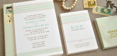 Wedding invitations from Chromatic and Co.
