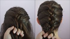 How to: French braid tutorial. So, you're doing this to my hair..right @Samantha @This Home Sweet Home Blog Yero ??