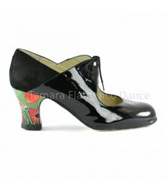 zapatos de flamenco profesionales de mujer - Begoña Cervera - Zapato flamenco arty charol negro begoña cervera