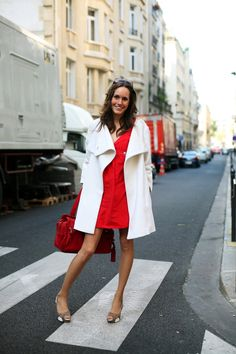 Love the red, and the shoes... and ready for my white coat to come out of hiding!