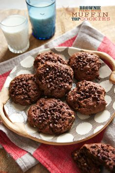 Brownie Peanut Butter Muffin Top Cookies | FamilyFreshCooking.com