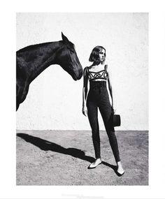 Nadja Bender by Camilla Åkrans for Harper's Bazaar US March 2015