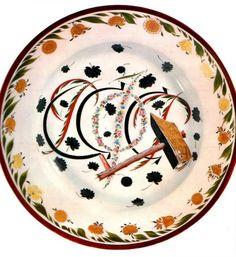"""Иллюстрация 1. Блюдо """"РСФСР"""". Композиция 1918 года, вариант и выпуск 1922 года. С. В. Чехонин."""
