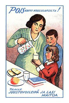 Valio - Juustovoileipä ja lasi maitoa - 1930-luku