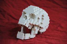 Human Skull by AnActionFigure Halloween Lego, Halloween Scene, Lego Design, Minecraft Skull, Lego Sculptures, Amazing Minecraft, Amazing Lego Creations, Lego People, Lego Worlds