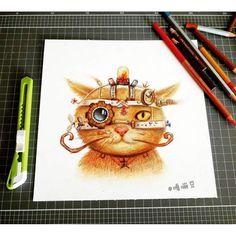 Gambar Hewan Lucu Dan Imut Karya Oliudio ( Kucing Robot )
