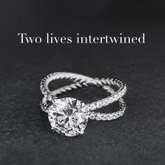 David Yurman crossover engagement ring