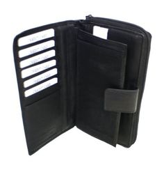 Genuine Leather Women's Wallet, Checkbook Cover and Credit Card Holder by Dona Michi. $12.99