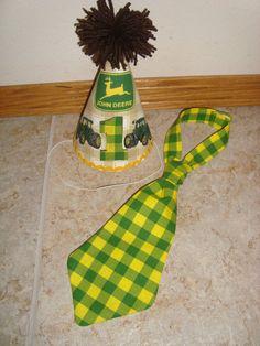 John Deere Birthday Hat  Tractor  First by BibsBurpsNThings, $17.00