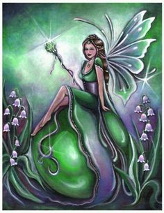 Birthstone Fairy May Emerald