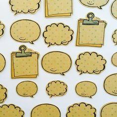 みずたまクラフトシール【ふきだしver.】 by fuku-fuku 文房具・ステーショナリー しおり・ステッカー Doodle Art Drawing, Painting & Drawing, Work Images, Doodle Icon, Cute Doodles, Message Card, Planner, Bullet Journal Inspiration, Sticky Notes