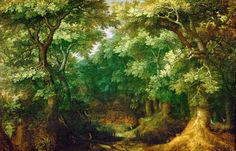 Forest Landscape by Gillis van Coninxloo. about 1600
