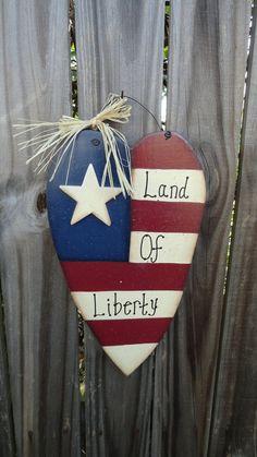 Americana heart flag