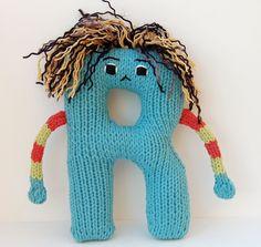 Letter R - Alphabet Stuffed Toy Knitting PATTERN - Rodney. $3.00, via Etsy.