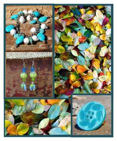 Turquoise for Fall @RescuedOfferings by rescuedofferings on Polyvore featuring art and EtsySpecialT