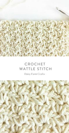 How to Crochet the Wattle Stitch - Daisy Farm Crafts #crochet #crochetstitch