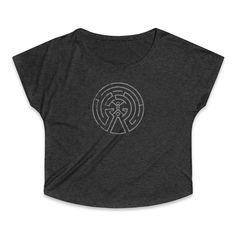 Westworld Maze Logo Women's Tri-Blend Dolman T-Shirt Thors Hammer, Vikings, Maze, Sweatshirts, Fabric, Sweaters, Cotton, T Shirt, Logo