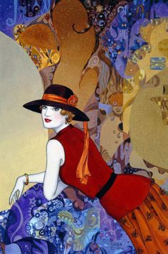 Helen Lam   Chinese-born Canadian Art Déco painter