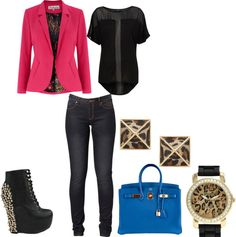 """""""Spiked Cheetah"""" by als5774 on Polyvore"""