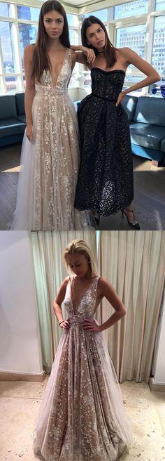 2018 prom dress, white lace long wedding dress, formal evening dress, party dress dancing dress