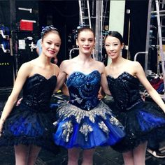 Charline Giezendanner, Aurélie Dupont and Sae Eun Park backstage during Le Palais de Cristal