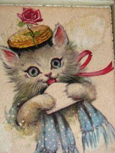 Vintage Kitten Picture Cat Feline Meow Kitten by TheIDconnection, $10.00