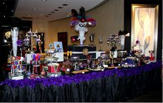 Burlesque/Masquerade Candy Table